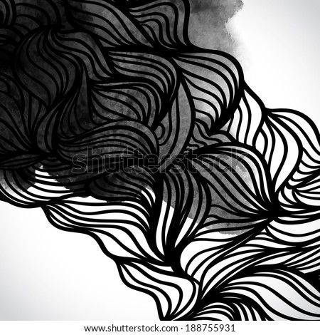 abstract vector black and white