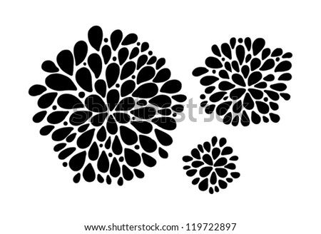 abstract vector black doodles