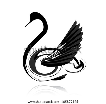 abstract vector black swan