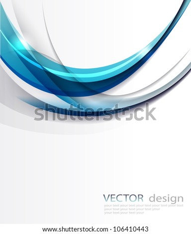 Stock Photo Abstract vector blue background.
