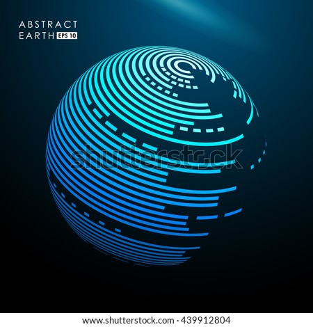 abstract vector blue spheres