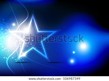abstract vector blue star background