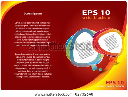 Abstract vector brochure design with place for your promotional text, red and yellow colors