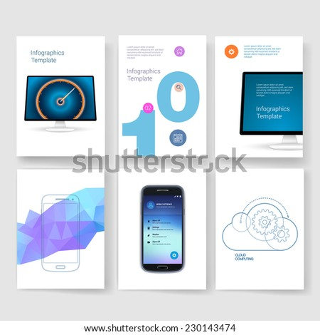 Abstract Vector Brochure Template. Flyer Layout. Flat Style. Infographic Elements.  #230143474
