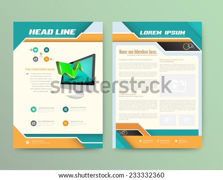 Technology Magazine Layout Download Free Vector Art Stock