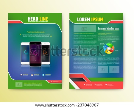 Technology Magazine Layout Download Free Vector Art Stock - Technology brochure template