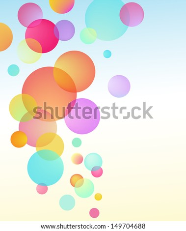 abstract vector bubble baloon