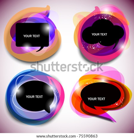 Abstract vector bubbles for speech