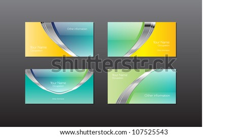 Turquoise minimal business card vector design illustration abstract vector business cards banners collection glossy colourmoves