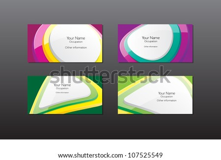 Abstract vector business cards / banners collection - glossy buttons