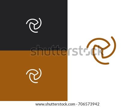 Abstract vector business logo element. Wind energy symbol design template. Air conditioning vector logo concept. Swirl logotype idea.