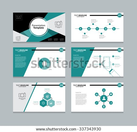 vector business brochure presentation template design download