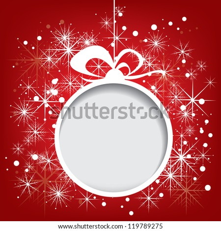Abstract vector christmas background with snowflakes
