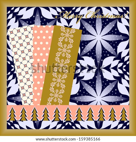 abstract vector Christmas card with scrapbooking elements #159385166