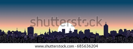 abstract vector cityscape and