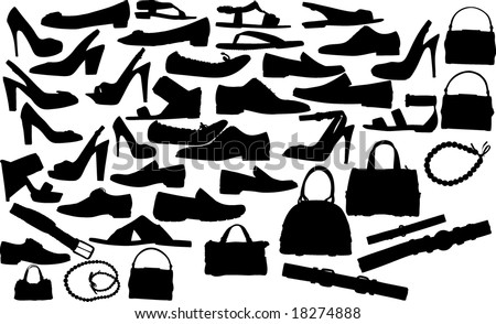 Abstract vector clothes silhouettes illustration