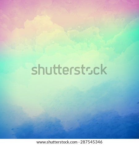 abstract vector cloudy sky