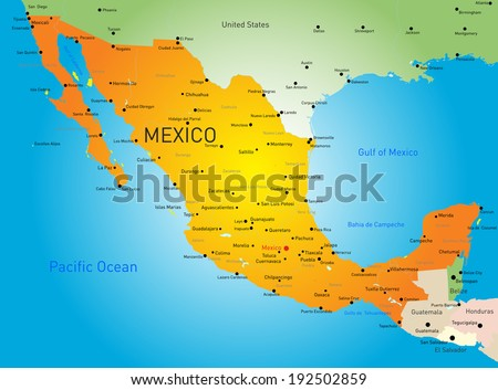 Mexico Map Vector - Download Free Vector Art, Stock Graphics & Images