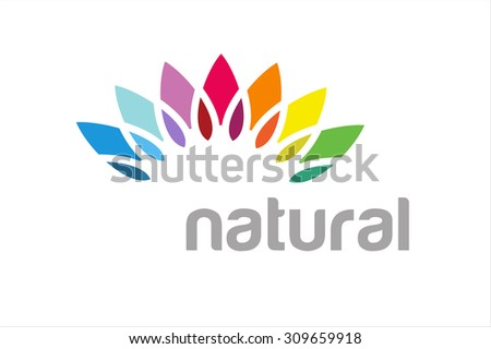 abstract vector colored flower