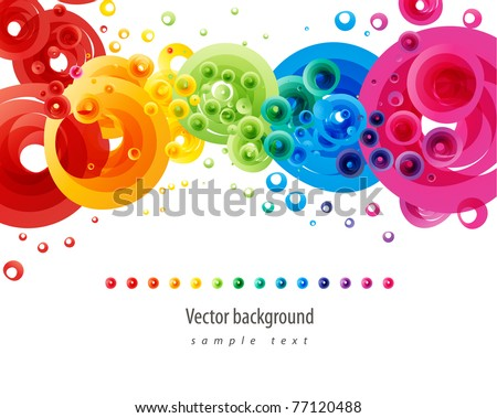 abstract vector colorful