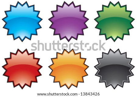 Abstract vector colorful burst icons