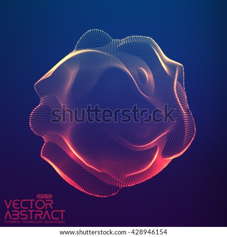 abstract vector colorful mesh
