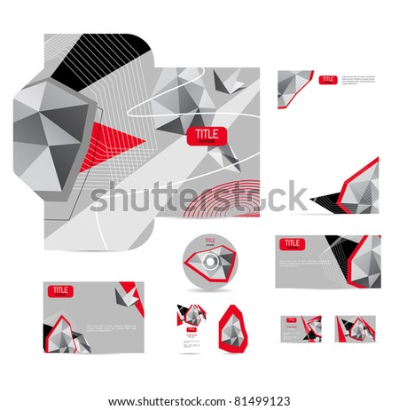 Abstract vector corporative style
