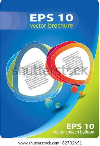 Abstract vector cover composition with colorful speech bubbles