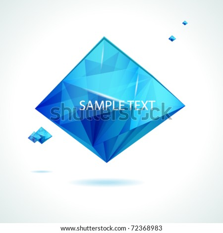 Abstract vector crystal design.