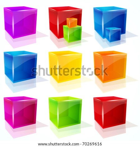 Abstract  vector cubes.