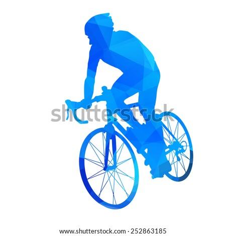 Stock Photo Abstract vector cyclist