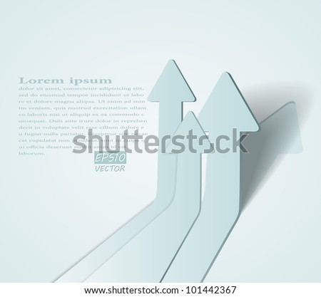 abstract vector 3D arrows background - eps10 illustration