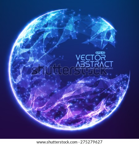 abstract vector demolished