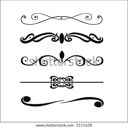 Abstract vector design elements borders frames stock vector