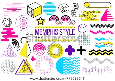 abstract vector design elements