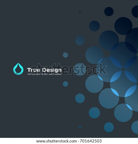 abstract vector design of blue