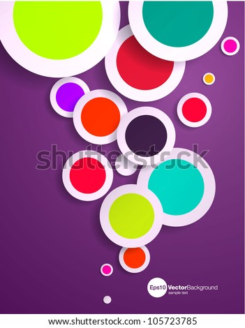 Abstract vector design with multicolored 3d spots