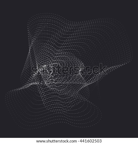 abstract vector destroyed mesh