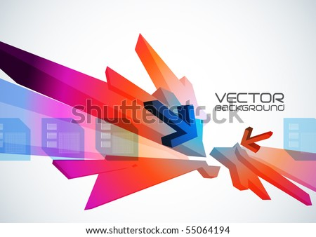 Abstract vector digital art.