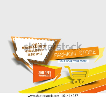 Abstract Vector Discount Banner Design template