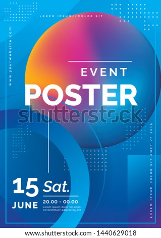 Abstract Vector Dynamic Background. Futuristic Poster for Corporate Meeting, Online Courses, Master Class, Webinar, Business Event Announcement. Event poster event