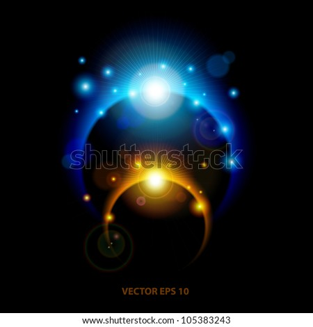 Abstract Vector Eclipse Background