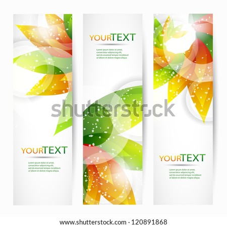 Abstract vector eps10 headers with place for your text