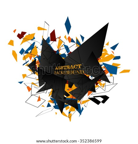 abstract vector explosion