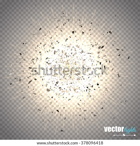 abstract vector explosion star