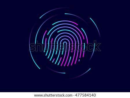 abstract vector fingerprint