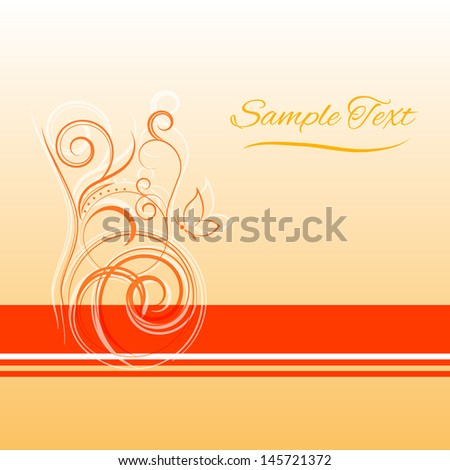 Abstract vector floral background  #145721372