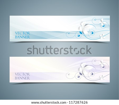 abstract vector floral banners set