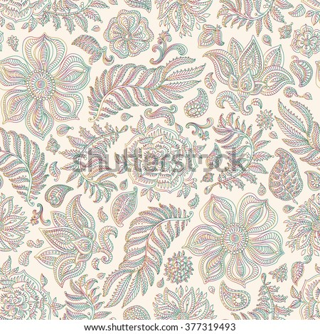 abstract vector floral seamless