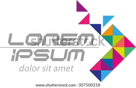 Abstract vector, forward logo for general company